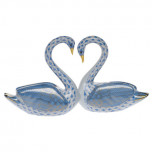 Kissing Swans 6.5 In L X 3.5 In H, Shaded Vhb