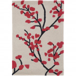 Hudson Park HDP2003 Red Floral Polyester Hand Tufted Rugs