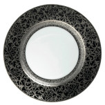 Tolede Black/Platinum Dinnerware