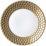Charger Plate - Aegean Sculpted Gold Limoges Porcelain | Gracious Style