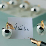 Apple Place Card Holders - Set of Six