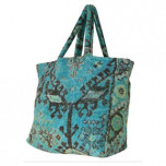 Aztec Blue Terry Tote Bag by Fresco   Gracious Style