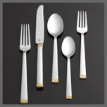 Vera Wang Chime Gold Flatware Stainless Steel | Gracious Style