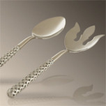 Braid Platinum 11.5 in Serving Set | Gracious Style
