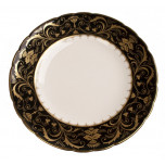 Darley Abbey Black and Gold Dinnerware