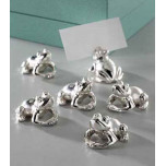 Frogs Place Card Holders - Set of Six - Silver