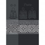 Poivre Noir Kitchen Towel 22 x 30 in