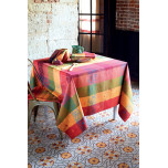 Garnier-Thiebaut Mille Alcees Litchi Coated Table Linens