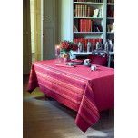 Garnier-Thiebaut Mille Leochic Red Table Linens