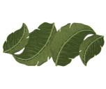 Kim Seybert Green Leaf Beaded Runner | Gracious Style