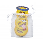 Emoji Set of 6 Yellow Coaster | Gracious Style