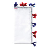 Pom Pom White/Navy/Red Napkins | Gracious Style