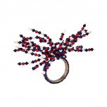 Jelly Bead Navy/Red Napkin Rings