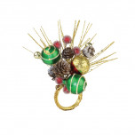 Frosted Pine Red/Green/Gold Napkin Rings