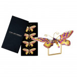 Butterfly Set of 4 Pink/Orange Napkin Rings | Gracious Style