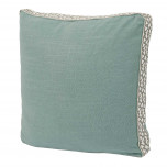 Aquamarine Linen With Spa Florence Tape Gusset Pillow 18 X 18 X 2 In | Gracious Style