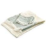 Belgian Towel Fouta Sage Stripe