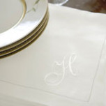 Monogrammed Dinner Napkins | Gracious Style