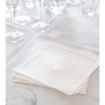 Monogrammed Linen Cocktail Napkins | Gracious Style