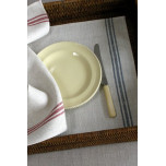 Luke Natural/Red Table Linens | Gracious Style