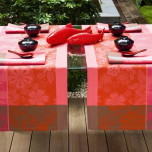 Sakura Coated Camellia Pink Coated Placemat Rect 19 x 14 in