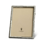 Deco Twist Platinum 5 x 7 in Picture Frame