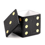 Games - Dice Decorative Box - Crocodile - Black 4.5 x 4.5 x 4.5 in | Gracious Style