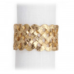 Braid Gold Napkin Rings, Four | Gracious Style
