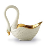 Swans 6 x 13 in Large Bowl - White