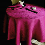 Mille Datcha Framboise Table Linens