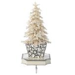 Flocked Crystal Tree Stocking Holder