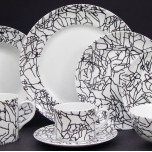 Kelly Wearstler Tracery Black on White Dinnerware