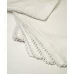 White Picot Edge Lace Linen Napkins Kim Seybert | Gracious Style