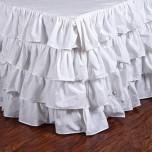 Audrey White Bedskirt