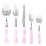 Gingham Pink Demitasse Spoon