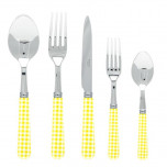 Gingham Yellow Flatware