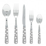 White Dots Grey Butter Knife
