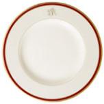 Signature Monogram Burgundy Dinnerware | Gracious Style