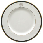 Signature Monogram Black Dinnerware