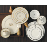 Signature Monogram Gold Dinnerware