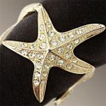 Starfish Gold Napkins Rings Swarovski Crystal | Gracious Style