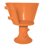 Oberon Chair Short Pumpkin Blush