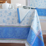 Birds Blue Table Linens | Gracious Style