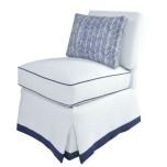 oomph Upholstered Slipper Chair Oatmeal - Oatmeal
