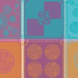 Mille Batik Vibrant Napkin Square 22 in