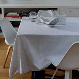 Illusion Grey Easy Care Table Linens