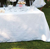 Siena White Table Linens