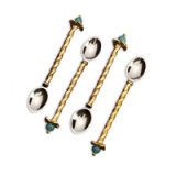 Fortuny Cocktail Spoons (Venise Set of 4) 4.75 in