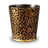 Leopard Wastebasket 9 x 10 in