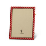 Deco Twist Red Enamel Picture Frame